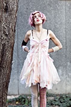 Candy floss pink gibbous dress