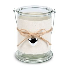 Cream Glass Candle Lantern, Large | Departments | DIY at B&Q