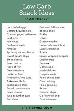 40+ Low Carb Ideas for Paleo Snacks