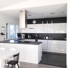 Kitchen white, copper kitchen decor, black kitchens, home decor kitchen, . White Kitchen Decor, Modern Kitchen Cabinets, Home Decor Kitchen, Kitchen Ideas, Kitchen Black, White Glossy Kitchen, White Kitchen Furniture, Modern Furniture, Kitchen Soffit
