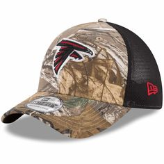 dd5dd68597b Atlanta Falcons New Era Trucker 39THIRTY Flex Hat - Realtree Camo Black