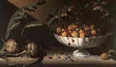 Juan Sanchez Cotan Still Life of Fruit in a Bowl with Two Artichokes Juan Sanchez Cotan, Be Still, Still Life, Fruit Painting, Natural Forms, Food Art, Art Projects, Artichokes, Masters