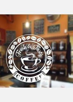 Coffee Shop Cafe Window Sign Stickers Restaurant Graphic Decal - Tìm với Google