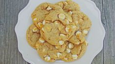 I thought I lost this recipe!  Whew.  Thank goodness I found it again!  Perfect for Halloween parties.  White Chocolate Pumpkin Spice Cookies | Bake Your Day @Brittney Anderson Sellin