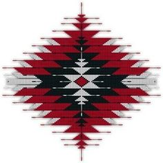 Native Style Red/Black Sunburst