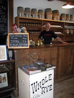 Tuthilltown Distillery store - excellent whisky producer in the Hudson Valley. Whiskey Distillery, Whisky, Hudson Valley, Hudson River, Liquor Cabinet, Tours, Glass, Drink, Home Decor