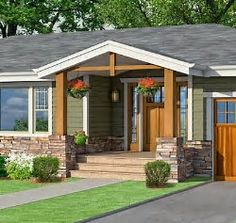 Front Porch Addition To Ranch House Front Porch Additions To Ranch Homes Best Po… - Modern Old Houses, Porch Addition, Ranch House Exterior, Craftsman Front Porches, Brick Ranch, Home Exterior Makeover, Ranch Style Homes, Exterior House Colors, Building A Porch