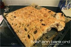 Oppskrift på verdens beste foccacia Bakeries, Baked Goods, Tapas, Banana Bread, Breads, Sweets, Dinner, Baking, Bakken