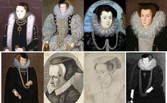 A Bongrace Was A Velvet-Covered Headdress, Stiffened With Buckram. Tudor Era, Black Hood, Medieval Fashion, Headdress, Renaissance, Royalty, Velvet, Straw Hats, Hair Styles