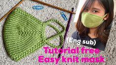How to make mask,(eng sub) tutorial knit mask, never knit mask easy like. How to make mask,(eng sub) tutorial knit mask, never knit mask easy like. Knitting Stitches, Knitting Patterns Free, Knit Patterns, Free Knitting, Knitting Socks, Baby Knitting, Crochet Mask, Crochet Faces, Knit Crochet