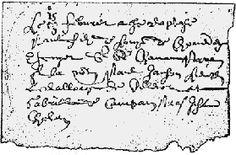 """Acte de baptême de Paul de Chomedey : """"Le 15 febvrier a esté baptisé Paul filz de Louys de Chomedey Escuyer sieur de Chavannes Parain pour le nom Paul Janson, lieutenant le bailliage de Villemor et marraine Gabrielle de Campan par Jehan Chabert"""" (Extrait du registre d'état civil de l'année 1612 de la paroisse de Neuville-sur-Vanne. - Collection du greffe déposée aux Archives départementales de l'Aube)."""