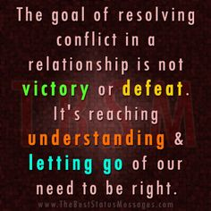 how to resolve relationship's conflicts