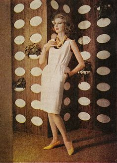 1961 Suede Leather Fashions, Suede Shift Dress