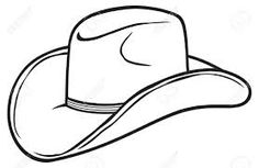 Cowboy hat pattern. Use the printable outline for crafts