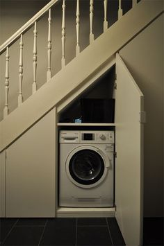 Tumble Dryer Cupboard With Storage For Washing Basket