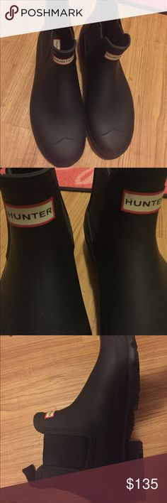 Hunter Waterproof Chelsea Rain Boots Men Black SIZE 12 New Hunter Boots Shoes Rain & Snow Boots