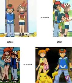 pokemon ash and misty older - Google Search