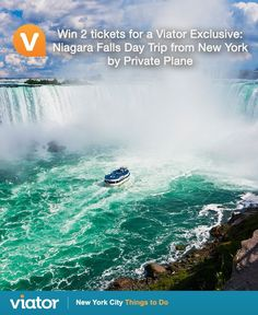 Enter our #NYC #giveaway for your chance to win a Viator Exclusive: #Niagara Falls Day Trip from New York by Private Plane for 2!