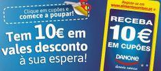 Como podes conseguir estes €10 em cupões de desconto Danone?  A DANONE alimenta sorrisos!