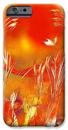 Spring On The Red Planet IPhone 6 Case Printed with Fine Art spray painting image Spring On The Red Planet by Nandor Molnar (When you visit the Shop, change the orientation, background color and image size as you wish)