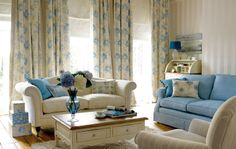 Laura Ashley fabrics, Brighton Beautiful in Cobalt
