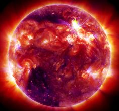 Our Sun during a solar flare on January 23, 2012