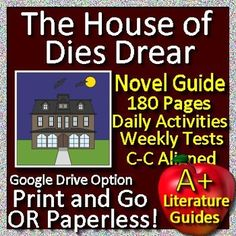 Digital Resource - Free up your time with The House of Dies Drear, a 180 page Common-Core aligned Complete Literature Guide for the novel by Virginia Hamilton. It can be used with or without Google Drive (Paperless OR Print and Go) This novel study teaching unit has everything that you will need to teach and assess the novel.