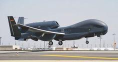 Dron Eurohawk despegando de la Base Aérea de Morón en la ficción de @lamarcadeodin