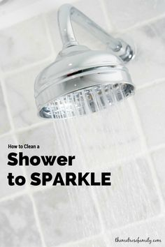 How to Clean a Shower to Sparkle.