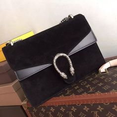 Gucci Dionysus suede shoulder bag Black suede  for sale at https://www.ccbellavita.eu/products/gucci-dionysus-suede-shoulder-bag-black-suede