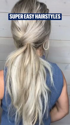 Easy Hairstyles For Long Hair, Pretty Hairstyles, Braided Hairstyles, Work Hairstyles, Summer Hairstyles, Aesthetic Hair, Great Hair, Hair Videos, Hair Highlights