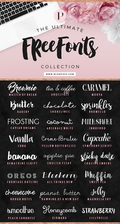 Bringing you the ultimate free fonts collection! I searched high and low for the best free fonts to download for personal or demo use. They're perfect for blog logos, graphics and signatures. Including handwritten fonts, brush fonts, quirky, curly and bold fonts. I had to include the fonts from my previous free fonts post on Flip…