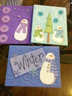 Handmade Blank-Boxed Snowman Christmas Cards (6 Cards and Envelopes) #Handmade #Christmas