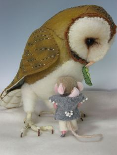 """Needle Felting / Needle Felted Creations By Barby Anderson: Mouse Blessings 3"""" Needle Felted Mouse & Baby (SOLD) My ebay ID is: barby303"""