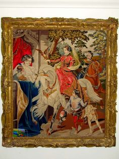 Magnificent 19thc/16thc.design-Royal English'The Hawking'Needlework Tapestry | From a unique collection of antique and modern tapestries at http://www.1stdibs.com/furniture/wall-decorations/tapestry/