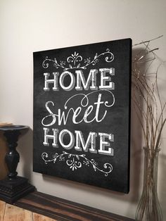 Home Sweet Home Sign Inspirational Quote Family Quote Signs Wall Hangi – Handcrafted Rustic Wood Signs & Established Signs by Jetmak Studios