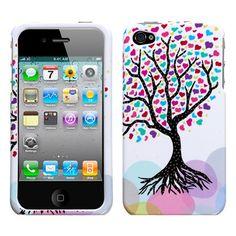 MyBat Apple iPhone 4 (AT&T) / iPhone 4 (Verizon) Phone Protector Cover - Love Tree $2.11