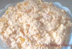 The Better Baker: (Sugar free) Dreamsicle Salad (jello pudding recipes 4 ingredients) Ww Desserts, Weight Watchers Desserts, Sugar Free Desserts, Healthy Desserts, Delicious Desserts, Dessert Recipes, Yummy Food, Fluff Desserts, Pudding Desserts