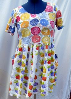 Jams World Hattie Dress Medium Berry Berries Floral Flowers Pastel Spring #JamsWorld #Hawaiian #SummerBeach