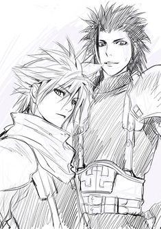 Cloud Strife. Zack Fair. Final Fantasy VII series.
