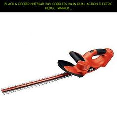 Black & Decker NHT524B 24V Cordless 24-in Dual Action Electric Hedge Trimmer ... #shopping #products #plans #parts #electric #drone #technology #hedge #camera #tech #racing #kit #fpv #gadgets #trimmers