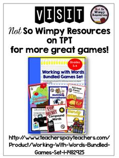 Games!!! Perfect for Daily 5, center time, reading workshop!