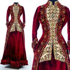 1885 woman's ensemble Emile Pingat