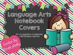 Free: Language Arts Notebook Covers for Notebooks (Editable Options Included) Reading Notebooks, Reading Notes, Writing Notebook, Interactive Notebooks, Notebook Covers, Word Work, Literacy Centers, Language Arts, Back To School
