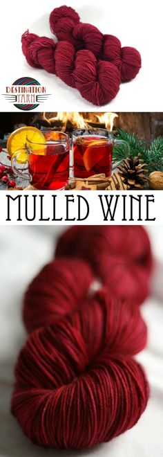 A deep, bright, red recalls not only the changing leaves but also one of the tastiest drinks of the season! Hand-dyed, sock/fingering weight yarn for knitting, crochet, and DIY yarn crafts.