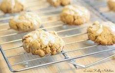 iced lemon cookies - use coconut flour for gluten free and sub the egg for vegan