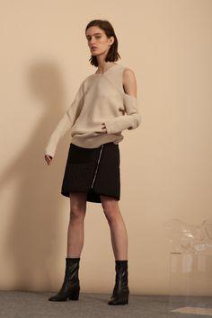 Asymmetrical Sweater - Ecru