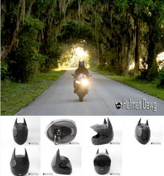 "Casco para Moto ""BATMAN""  Web: http://www.helmetdawg.com/Products.php"
