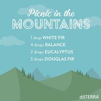 Because everyone loves picknicking in the mountains but can't do it everyday, we created this diffuser blend. Douglas Fir lends apple-y sweetness to the refreshing and balancing scents of Eucalyptus, White Fir, and doTERRA Balance®.