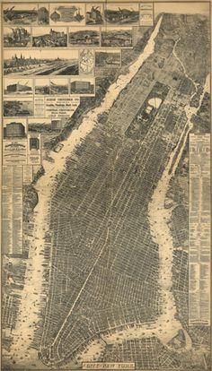 Historic Map of New York City, NY - 1879